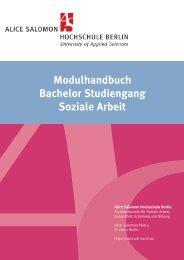 Modulhandbuch 7. Auflage - Alice Salomon Hochschule Berlin
