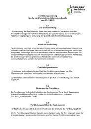 Fortbildungsordnung - Ärztekammer Nordrhein