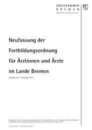 Fortbildungsordnung (PDF) - Ärztekammer Bremen