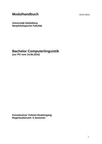 Modulhandbuch zur PO vom 14. Juni 2010 (Stand: 10. Juli 2013)