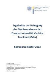 (Oder) Sommersemester 2013 - European University Viadrina ...