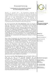 Pressemitteilung deutsch - Internationale Gesellschaft für ...