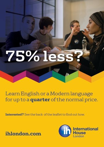 Modern Languages brochure - International House London