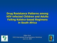 Drug resistance patterns among HIV-infected children ... - IHL Press