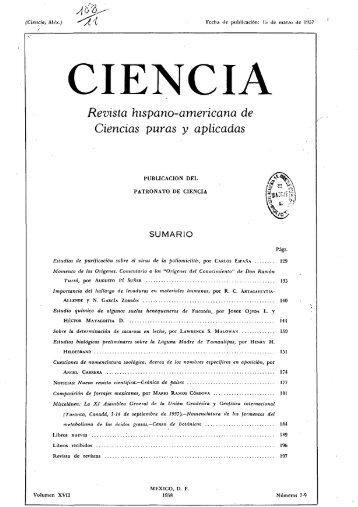CIENCIA - Revista hispano-americana de Ciencias puras y aplicadas