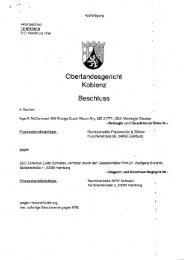 Oberlandesgericht • Koblenz Beschluss - Inge McDermaid