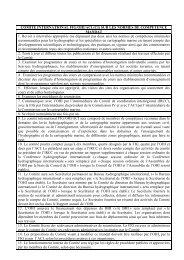 Mandat et Règles de procédures - IHO