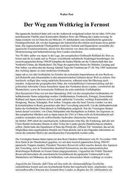 Walter Post - Das Deutschland Journal
