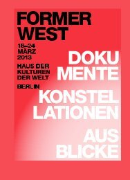Booklet, Former West (Druckversion) PDF / 1256 kb - Haus der ...