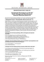 Internationaler Museumstag am 12. Mai 2013 Eintritt, Führungen ...
