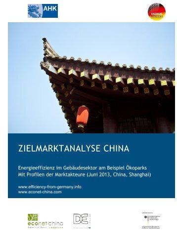 ZIELMARKTANALYSE CHINA - Exportinitiative Energieeffizienz