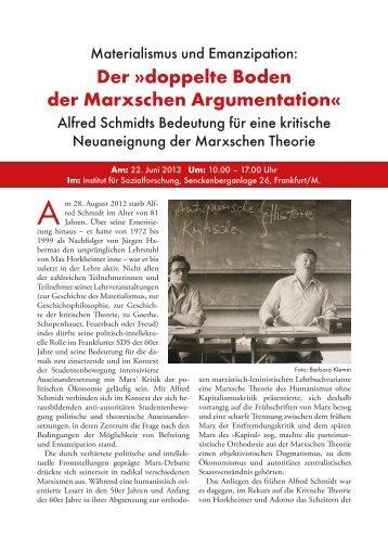 Materialismus und Emanzipation. Alfred Schmidts Bedeutung für ...
