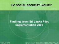 Findings from Sri Lanka Pilot Implementation 2005 - Institute for ...