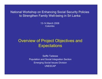 National Workshop on Enhancing Social Security Policies to ...