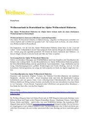 Wellnessurlaub in Deutschland im Alpine Wellnesshotel Hubertus