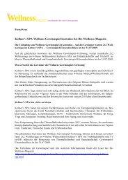 Presse-Bericht: Kellner's SPA Wellness Gewinnspiel kostenlos bei ...