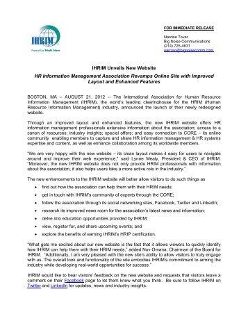 Benefits of HRIP Certification - IHRIM