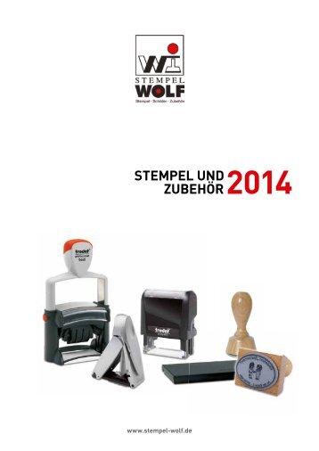 Stempel und Zubehör im Stempelkatalog von Stempel-Wolf