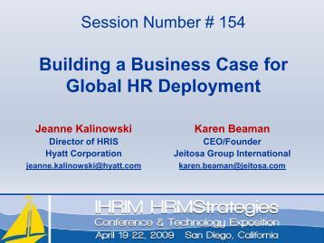 Building a Business Case for Global HR Deployment - IHRIM
