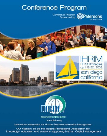 Download the Onsite Conference Program - IHRIM