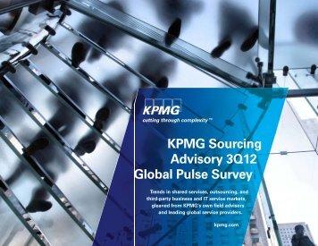 KPMG Sourcing Advisory 3Q12 Global Pulse Survey - KPMG Institutes