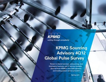 KPMG Sourcing Advisory 4Q12 Global Pulse Survey - KPMG Institutes