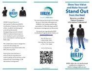HRIP Program Tri-Fold - IHRIM
