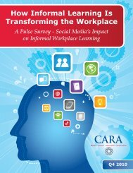 How Informal Learning Is Transforming the Workplace - CARA Group