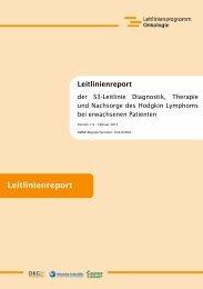 Leitlinienreport S3-Leitlinie Hodgkin Lymphom - AWMF
