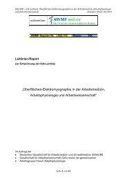 """""""Oberflächen-Elektromyographie in der Arbeitsmedizin ... - AWMF"""
