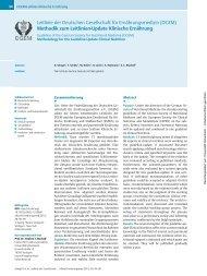 Methodik zum Leitlinien-Update Klinische Ernährung - DGEM