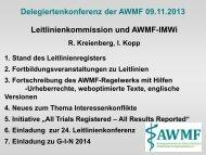Bericht aus der Ständigen Kommission Leitlinien und aus ... - AWMF
