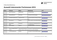 Auswahl interessanter Fachmessen 2014