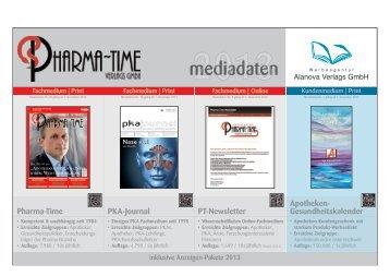 Mediadaten 2013 - Pharma-Time Verlag