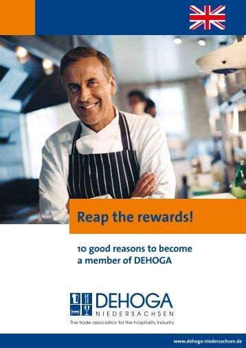 Reap the rewards! - DEHOGA Niedersachsen