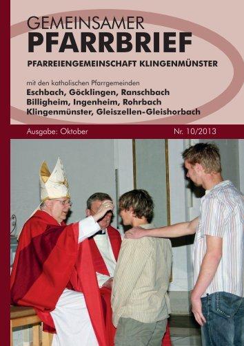PFARRBRIEF - Ranschbach