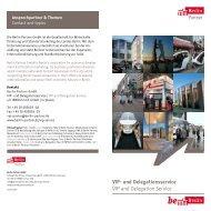 und Delegationsservice VIP and Delegation Service - Berlin Partner