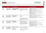 Download: Themen- und Terminplan - Boden, Wand, Decke
