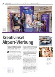 Kreativinsel Airport-Werbung - Stuttgart