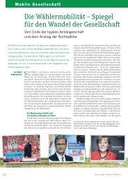 Wählermobilität und Wandel der Gesellschaft - Forschung Frankfurt