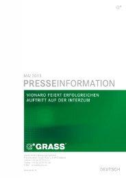 Erfolgreiche interzum 2013 (Pressetext) - Grass GmbH