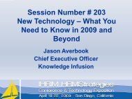 What You Need to Know in 2009 and Beyond - IHRIM