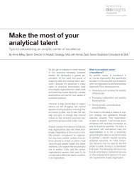 Make the most of your analytical talent - IHRIM