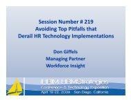 Avoiding Top Pitfalls that Derail HR Technology ... - IHRIM