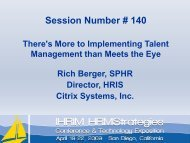 There's more to Implementing Talent Management than ... - IHRIM