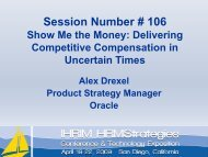 Show Me the Money: Delivering Competitive Compensation in - IHRIM