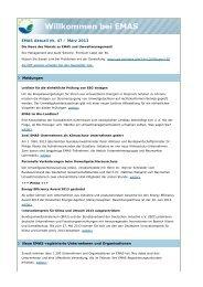 EMAS Aktuell Nr. 47 / März 2013