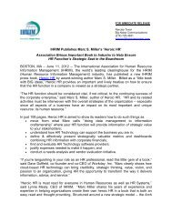 IHRIM Publishes Marc S. Miller's 'Heroic HR' Association Brings ...