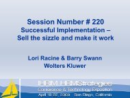 Successful Implementation – Sell the sizzle and make it work! - IHRIM