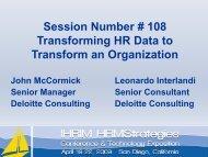 Transforming HR Data to Transform your Organization - IHRIM